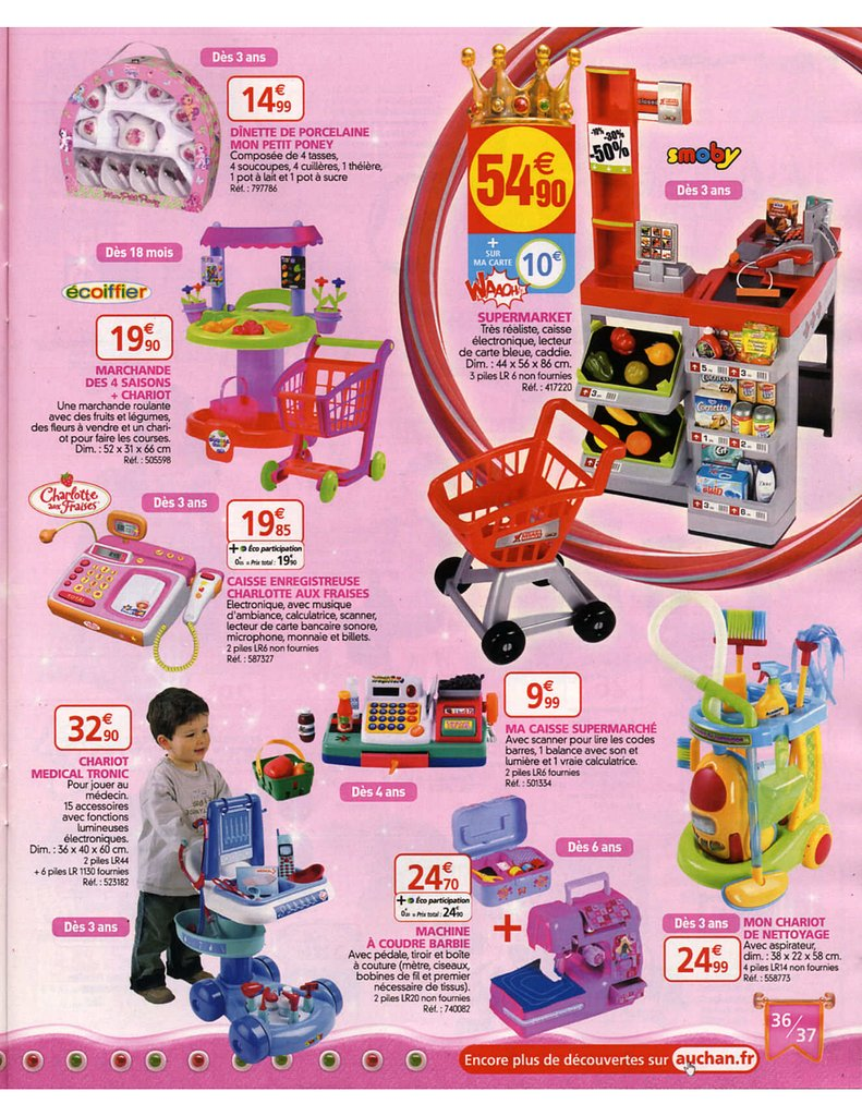 catalogue auchan no l 2008 catalogue de jouets. Black Bedroom Furniture Sets. Home Design Ideas