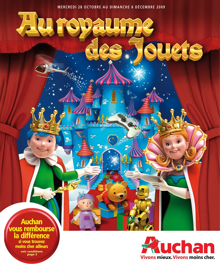 catalogue auchan no l 2009 catalogue de jouets. Black Bedroom Furniture Sets. Home Design Ideas