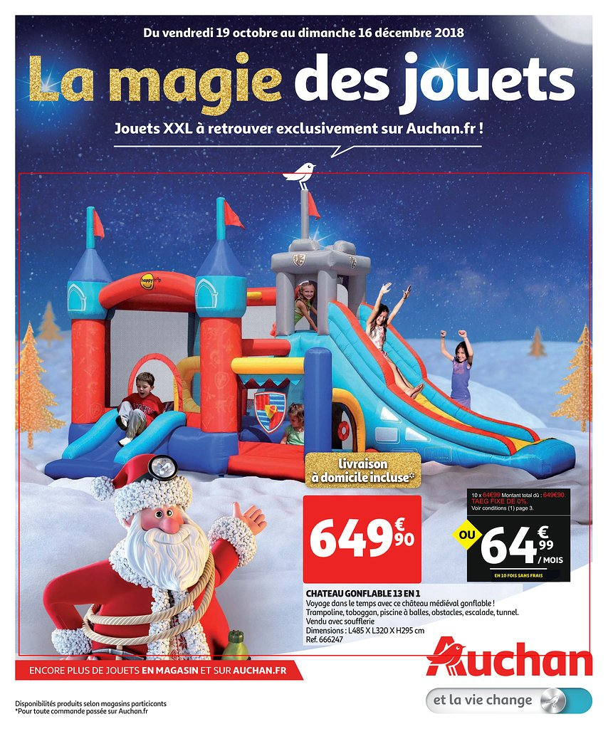 catalogue auchan no l 2018 sp cial jouets xxl catalogue de jouets. Black Bedroom Furniture Sets. Home Design Ideas
