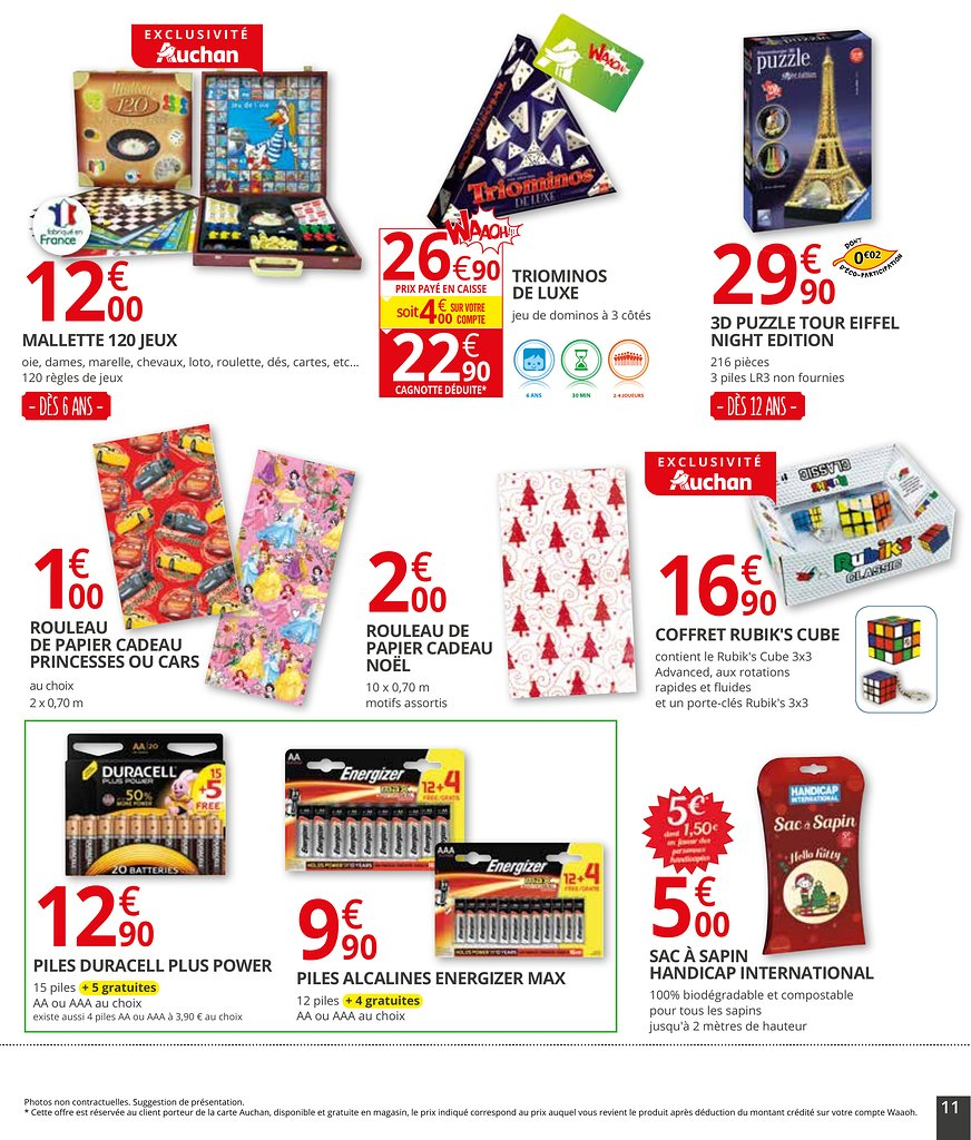 catalogue auchan supermarch no l 2017 catalogue de jouets. Black Bedroom Furniture Sets. Home Design Ideas