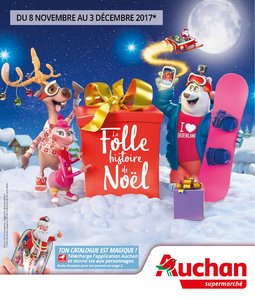 Catalogue Auchan Supermarché Noël 2017 page 1