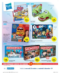 Catalogue Carrefour Belgique Noël 2019 page 52