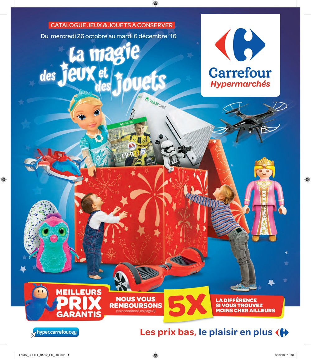 catalogue hypermarch carrefour belgique no l 2016 catalogue de jouets. Black Bedroom Furniture Sets. Home Design Ideas