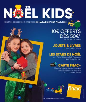 Catalogue Fnac Noël Kids 2018