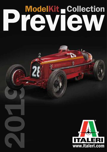 Catalogue de maquettes Italeri Preview 2019
