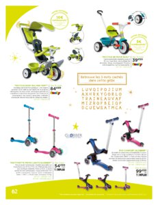 Catalogue Jouets Sajou Noël 2019 page 62
