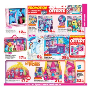 Catalogue Maxi Toys Belgique Noël 2017 page 75