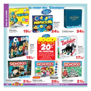 Catalogue Maxi Toys Belgique Noël 2017 page 110