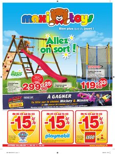 Catalogue Maxi Toys France Allez On Sort 2018 page 1