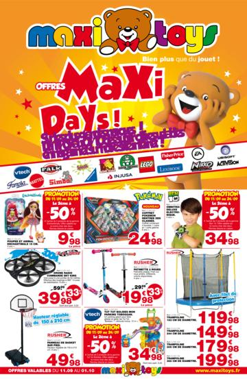 Catalogue Maxi Toys France Maxi Days 2017
