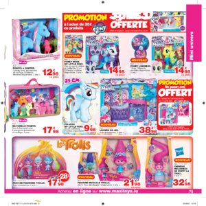 Catalogue Maxi Toys Luxembourg Noël 2017 page 75