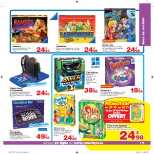 Catalogue Maxi Toys Luxembourg Noël 2017 page 115