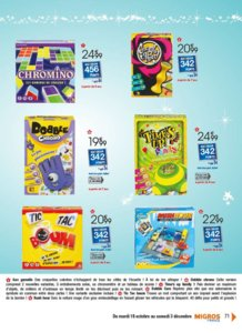 Catalogue Migros France Noël 2016 page 71