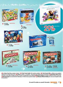 Catalogue Migros France Noël 2016 page 73