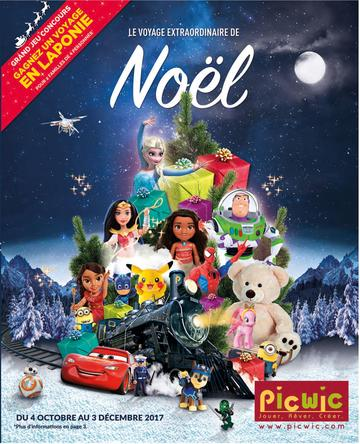 Catalogue Picwic Noël 2017