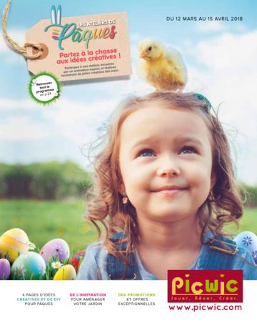 Catalogue Picwic France Pâques 2018