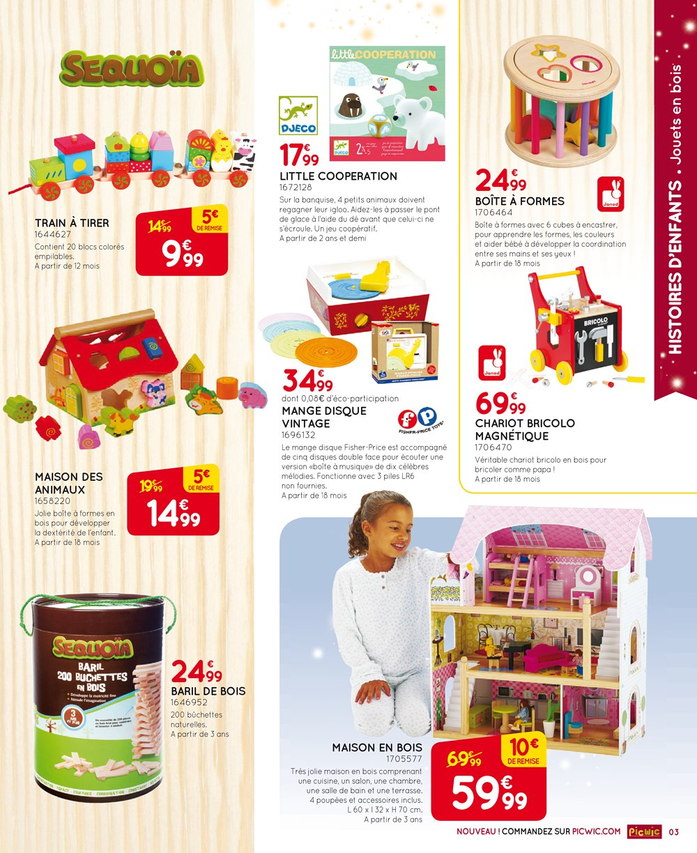catalogue picwic no l 2015 tome 1 catalogue de jouets. Black Bedroom Furniture Sets. Home Design Ideas