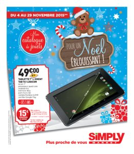 Catalogue Simply Market Noël 2015 page 1
