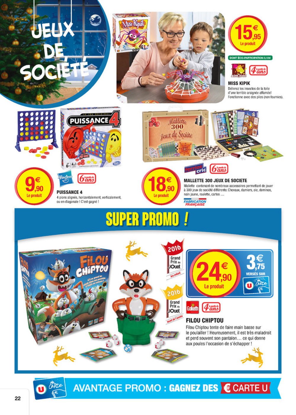 Catalogue super u france no l 2016 catalogue de jouets for Catalogue mobilier de jardin super u