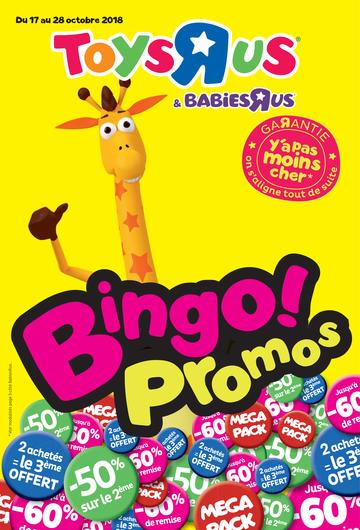 Catalogue Toys'R'Us Bingo Promo 2018