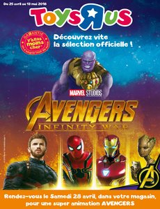 Catalogue Toys'R'Us Sélection Avengers Infinity War 2018 page 1