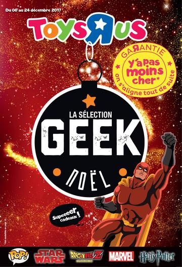 Catalogue Toys'R'Us La Sélection Geek de Noël 2017